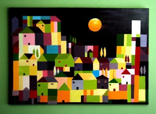 Αποτέλεσμα εικόνας για πίνακες ζωγραφικής τα σπίτια